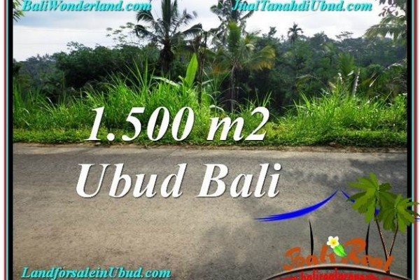 Beautiful UBUD BALI 1,500 m2 LAND FOR SALE TJUB556