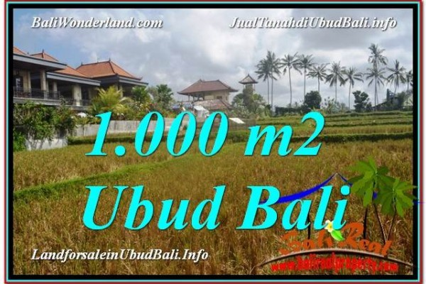 Beautiful 1,000 m2 LAND IN UBUD BALI FOR SALE TJUB618