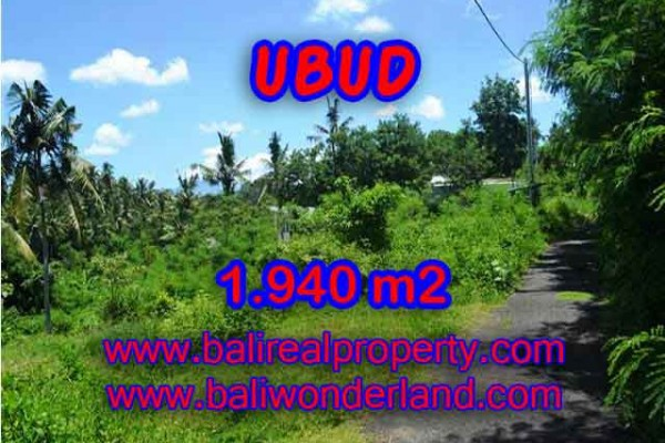 Bali Property for sale, Nice View land for sale in Ubud Bali  – 1.940 m2 @ $ 275