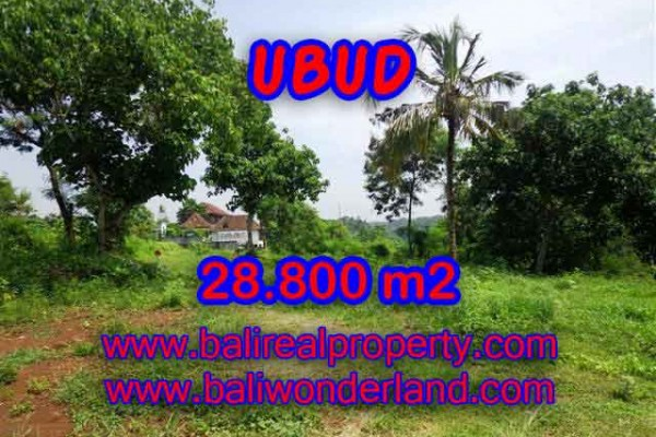 Land for sale in Bali, Magnificent view in Ubud Bali – 28.800 m2 @ $ 175