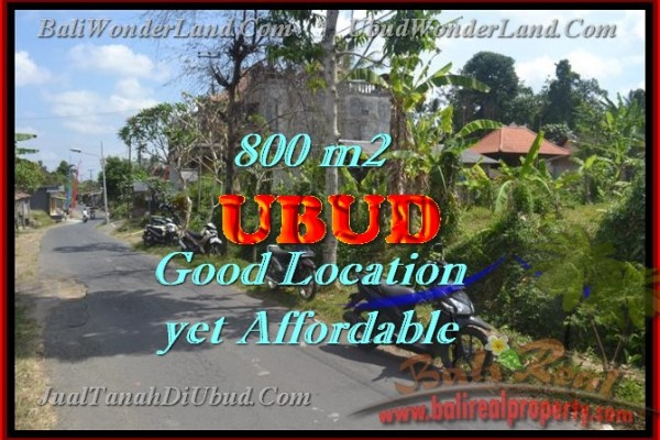 Land for sale in Bali, Magnificent view in Ubud Bali – 800 m2 @ $ 345