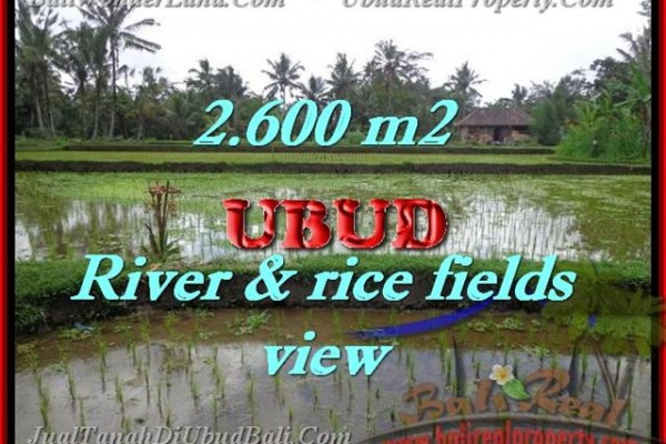 Land for sale in Bali, Fantastic view in Ubud Bali – 2.600 m2 @ $ 185