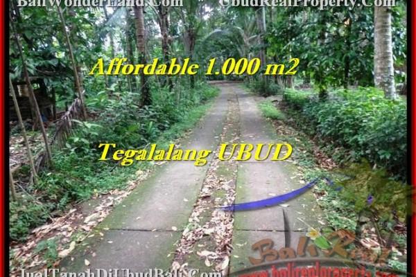 Magnificent PROPERTY 1,000 m2 LAND SALE IN UBUD BALI TJUB467