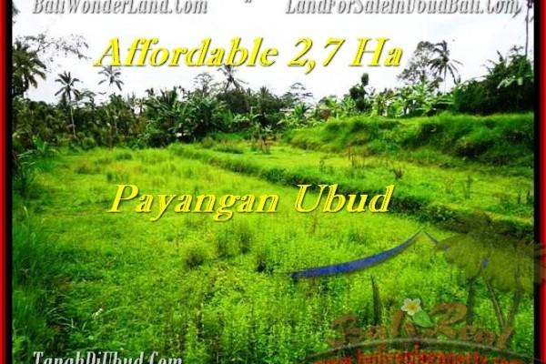 Exotic PROPERTY UBUD BALI 27,000 m2 LAND FOR SALE TJUB469