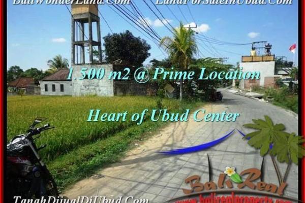 Beautiful PROPERTY Sentral Ubud 1,500 m2 LAND FOR SALE TJUB508