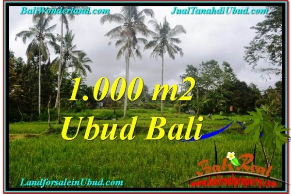 1,000 m2 LAND IN UBUD FOR SALE TJUB570