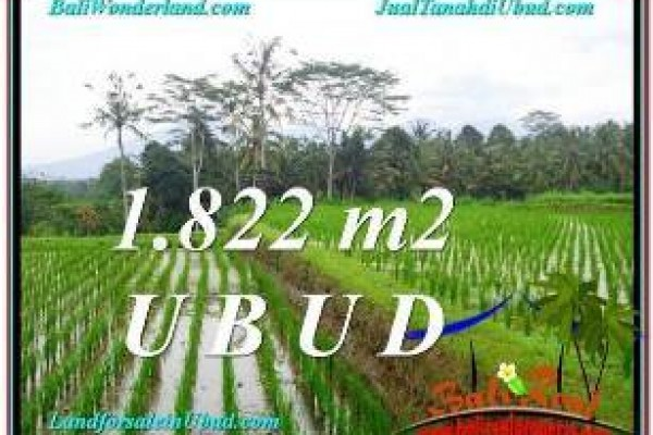 Exotic PROPERTY UBUD BALI 1,822 m2 LAND FOR SALE TJUB574