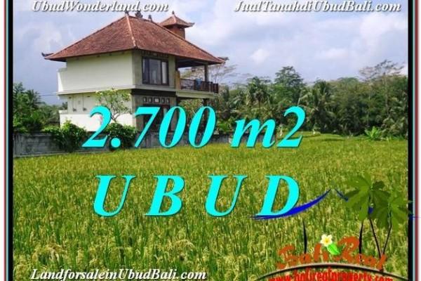 Exotic PROPERTY Ubud Tegalalang 2,700 m2 LAND FOR SALE TJUB595