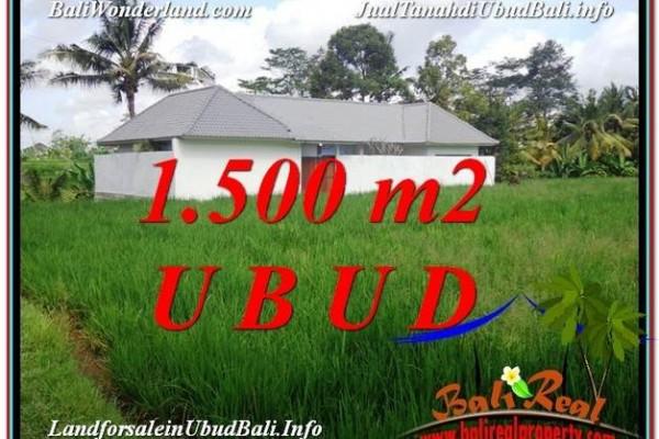 Beautiful PROPERTY 1,500 m2 LAND FOR SALE IN Sentral Ubud TJUB600
