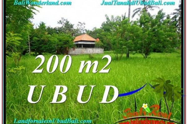 Magnificent PROPERTY 200 m2 LAND SALE IN UBUD BALI TJUB584