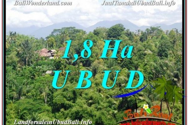 FOR SALE Magnificent 18,000 m2 LAND IN UBUD BALI TJUB589