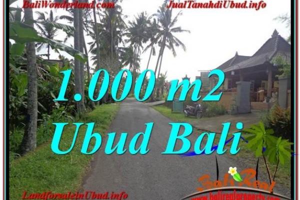 FOR SALE Beautiful PROPERTY 1,000 m2 LAND IN UBUD BALI TJUB604