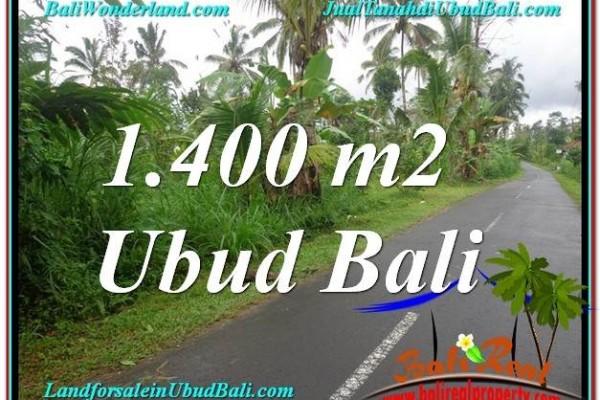 Affordable PROPERTY UBUD BALI 1,400 m2 LAND FOR SALE TJUB612