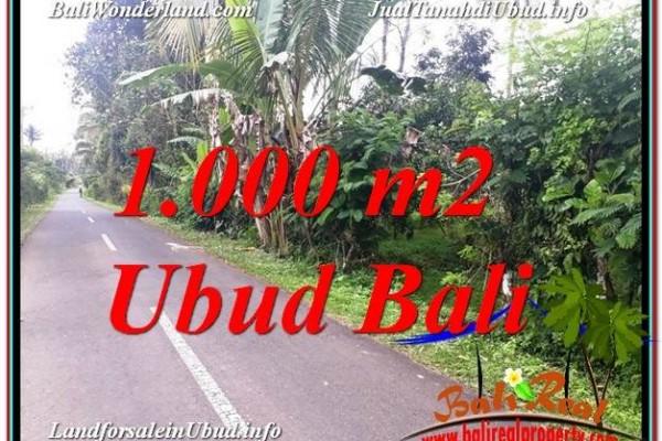 Magnificent PROPERTY 1,000 m2 LAND SALE IN UBUD BALI TJUB614