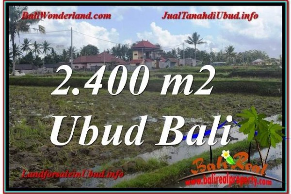 Magnificent PROPERTY 2,400 m2 LAND IN Ubud Pejeng BALI FOR SALE TJUB620
