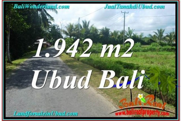 Magnificent PROPERTY 1,942 m2 LAND IN Ubud Pejeng BALI FOR SALE TJUB626