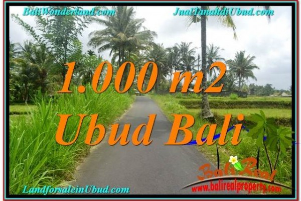 Magnificent PROPERTY 1,000 m2 LAND SALE IN UBUD BALI TJUB634