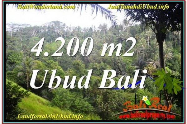 Exotic 4,200 m2 LAND SALE IN UBUD BALI TJUB639