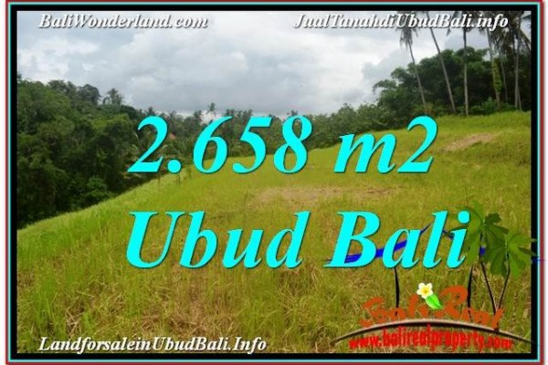 FOR SALE Exotic PROPERTY 2,658 m2 LAND IN UBUD TJUB641