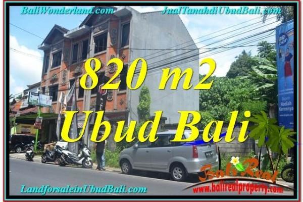 Magnificent PROPERTY 820 m2 LAND FOR SALE IN Sentral / Ubud Center BALI TJUB643