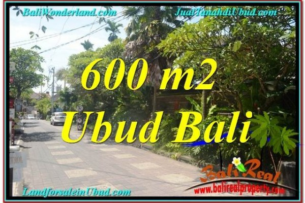 Magnificent PROPERTY 600 m2 LAND FOR SALE IN Ubud Center BALI TJUB644