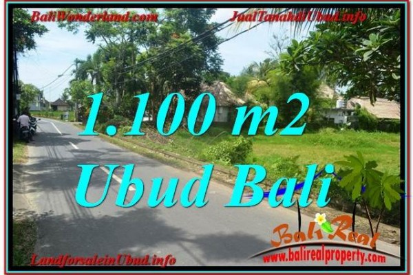 Exotic PROPERTY Sentral / Ubud Center BALI 1,100 m2 LAND FOR SALE TJUB645