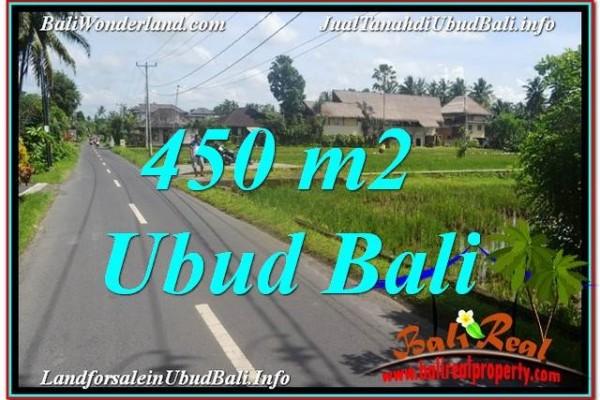 Exotic PROPERTY Sentral / Ubud Center 450 m2 LAND FOR SALE TJUB647