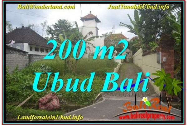 Magnificent PROPERTY 200 m2 LAND IN Sentral / Ubud Center BALI FOR SALE TJUB632