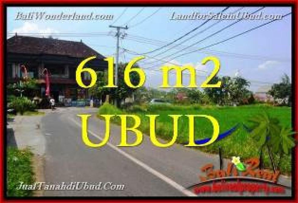 Magnificent PROPERTY UBUD SENTRAL BALI 616 m2 LAND FOR SALE TJUB650