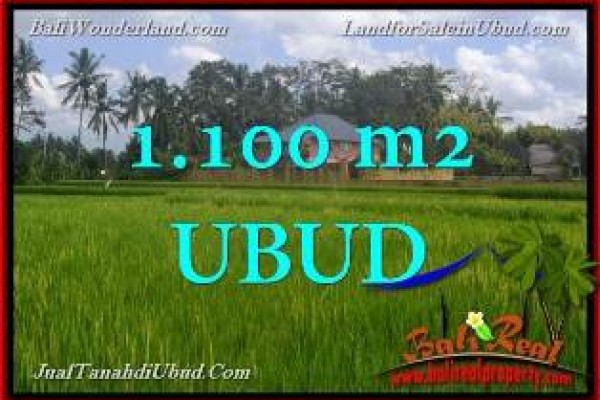 Magnificent 1,100 m2 LAND SALE IN UBUD PEJENG BALI TJUB651