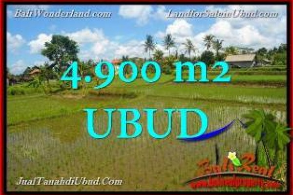 Magnificent Ubud Pejeng BALI 4,900 m2 LAND FOR SALE TJUB652