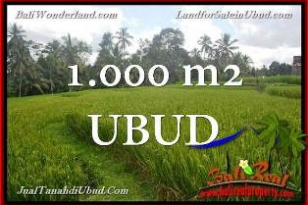 FOR SALE Beautiful 1,000 m2 LAND IN UBUD TEGALALANG BALI TJUB653