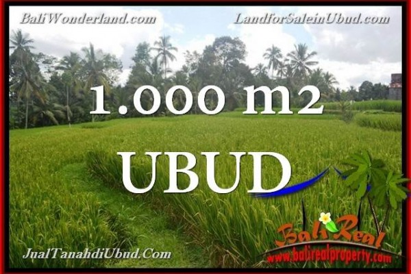 Beautiful PROPERTY 1,000 m2 LAND SALE IN Ubud Tegalalang TJUB653