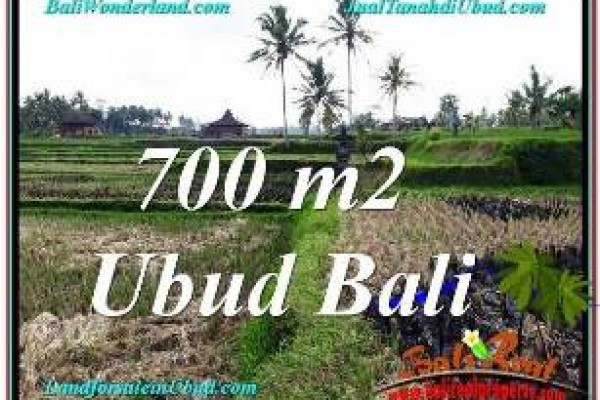 FOR SALE Magnificent 700 m2 LAND IN UBUD TJUB666