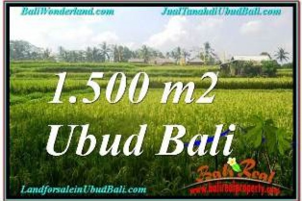 Exotic 1,500 m2 LAND SALE IN UBUD BALI TJUB667
