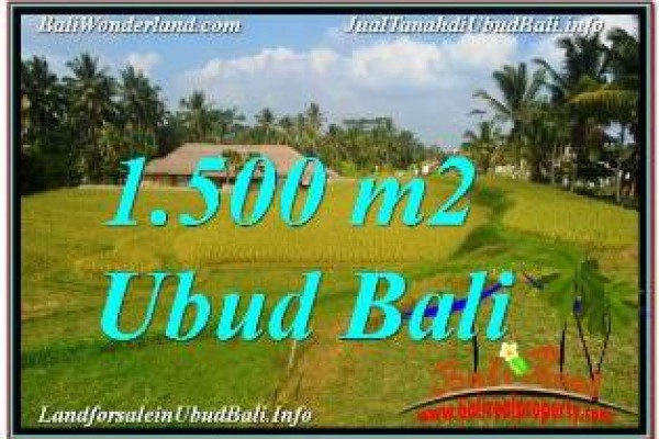 1,500 m2 LAND FOR SALE IN UBUD BALI TJUB668