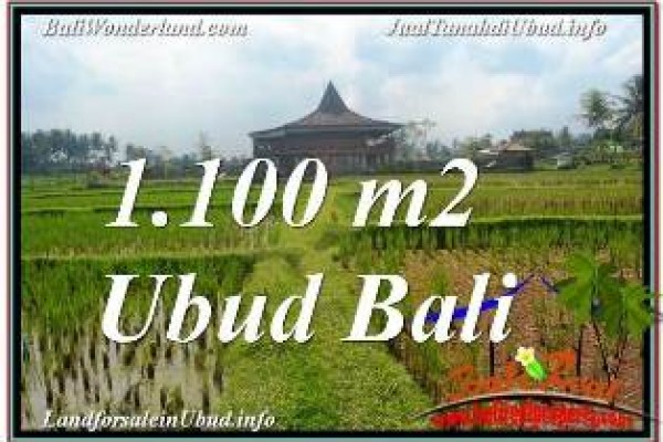 Exotic PROPERTY 1,100 m2 LAND FOR SALE IN SENTRAL UBUD TJUB670