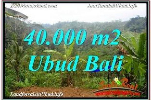 Affordable PROPERTY 40,000 m2 LAND IN UBUD PAYANGAN BALI FOR SALE TJUB679