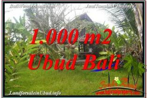 FOR SALE Exotic PROPERTY LAND IN UBUD BALI TJUB680