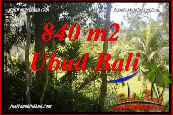 FOR sale Magnificent 840 m2 Land in Ubud Bali TJUB685