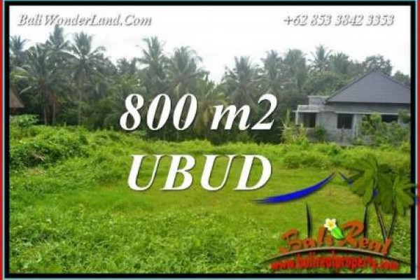 Affordable 800 m2 Land in Ubud Bali for sale TJUB706