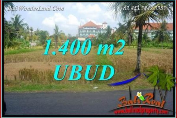 Magnificent Property 1,400 m2 Land sale in Sentral Ubud TJUB709