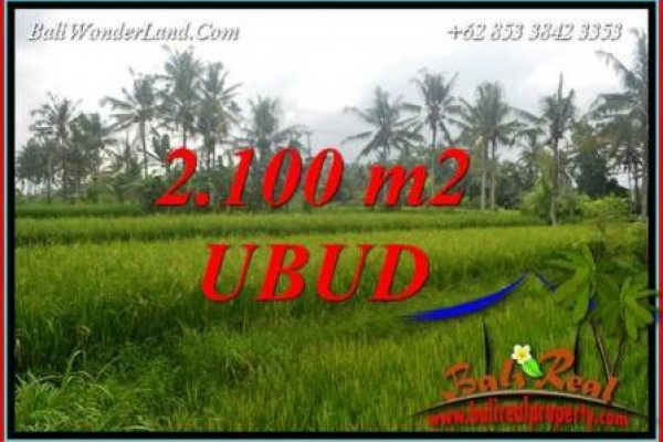 Affordable Ubud Bali 2,100 m2 Land for sale TJUB710