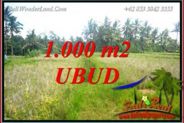 FOR sale 1,000 m2 Land in Ubud TJUB727