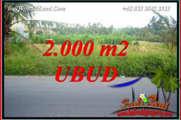 FOR sale 2,000 m2 Land in Ubud TJUB737