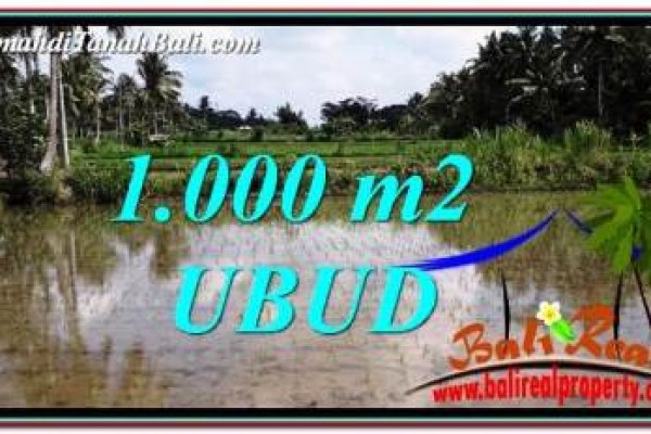 Beautiful PROPERTY Ubud Pejeng 1,000 m2 LAND FOR SALE TJUB753