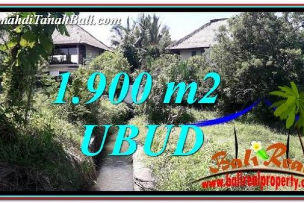Magnificent 1,900 m2 LAND IN Ubud Gianyar FOR SALE TJUB759