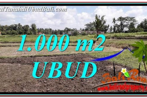 Affordable 1,000 m2 LAND SALE IN UBUD BALI TJUB765