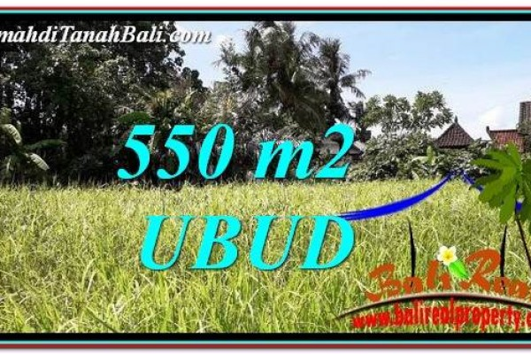Beautiful PROPERTY 550 m2 LAND FOR SALE IN Sentral Ubud BALI TJUB766
