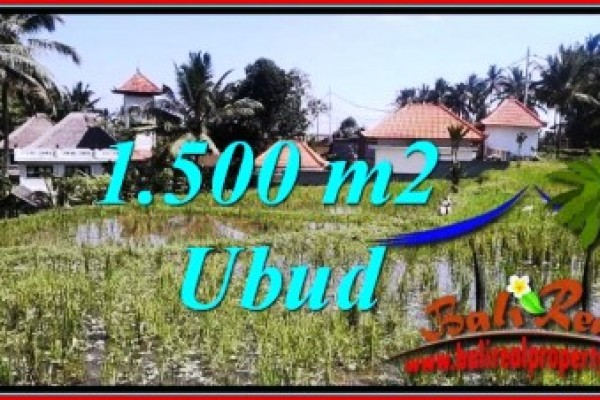Affordable PROPERTY 1,500 m2 LAND SALE IN Ubud Tegalalang TJUB744